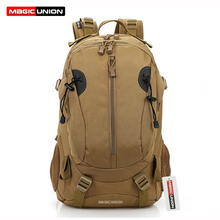 MAGIC UNION mochila militar para hombre, morral militar de lona para senderismo, Trekking, 40L, mochilas de Camping, bolsos de viaje a la moda