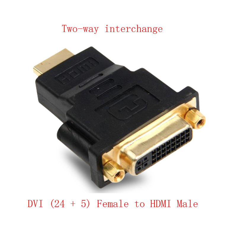 <font><b>DVI</b></font> female to HDMI male adapter <font><b>DVI</b></font> (<font><b>24</b></font> + <font><b>5</b></font>) to HDMI connector image