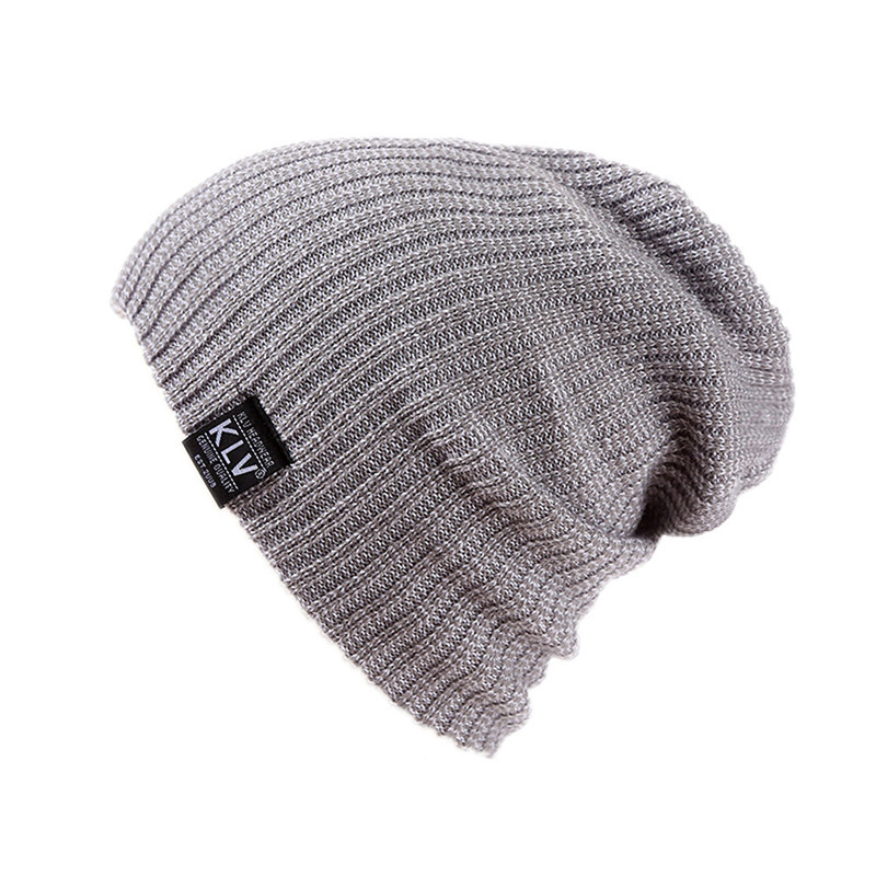 High Quality 2018 Fashion Men And Women Baggy Warm Fashion Crochet Winter Wool Knit Ski Beanie Skull Slouchy Caps Hat Gift