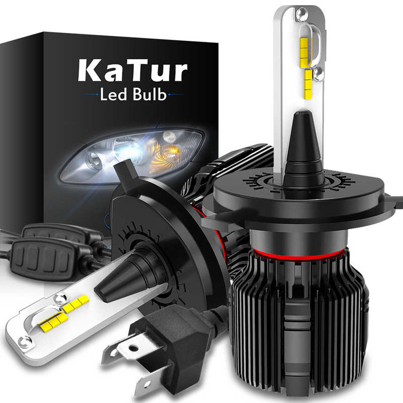 Katur Fanless LED H4 H7 Luces Led Para Auto H11 H1 Car Light HB4 automotivo Headlight H8 farol de milha lampada led carro HIR2