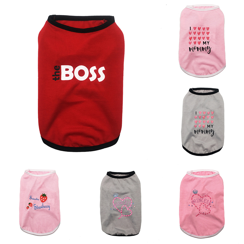 Dog Shirt Simple Striped Pet Vest Cat T-shirt Dog Clothes Sleeveless Cute Puppy Dog Accessory Soft Summer Clothes Summer Durable