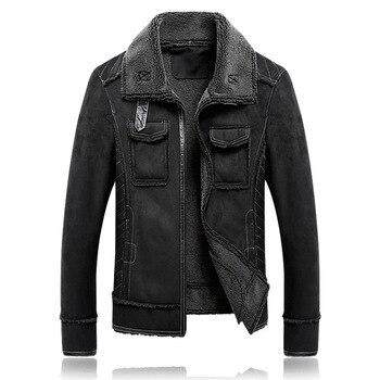 Man fur one M - 5 x plus velvet coat lapel faux suede