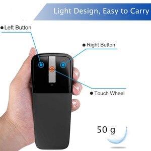Image 2 - Bluetoothワイヤレスアークタッチマウス1200dpi光学折りたたみモウズスリムノートブックモウズ超薄型コンピュータマウスマイクロソフトpc