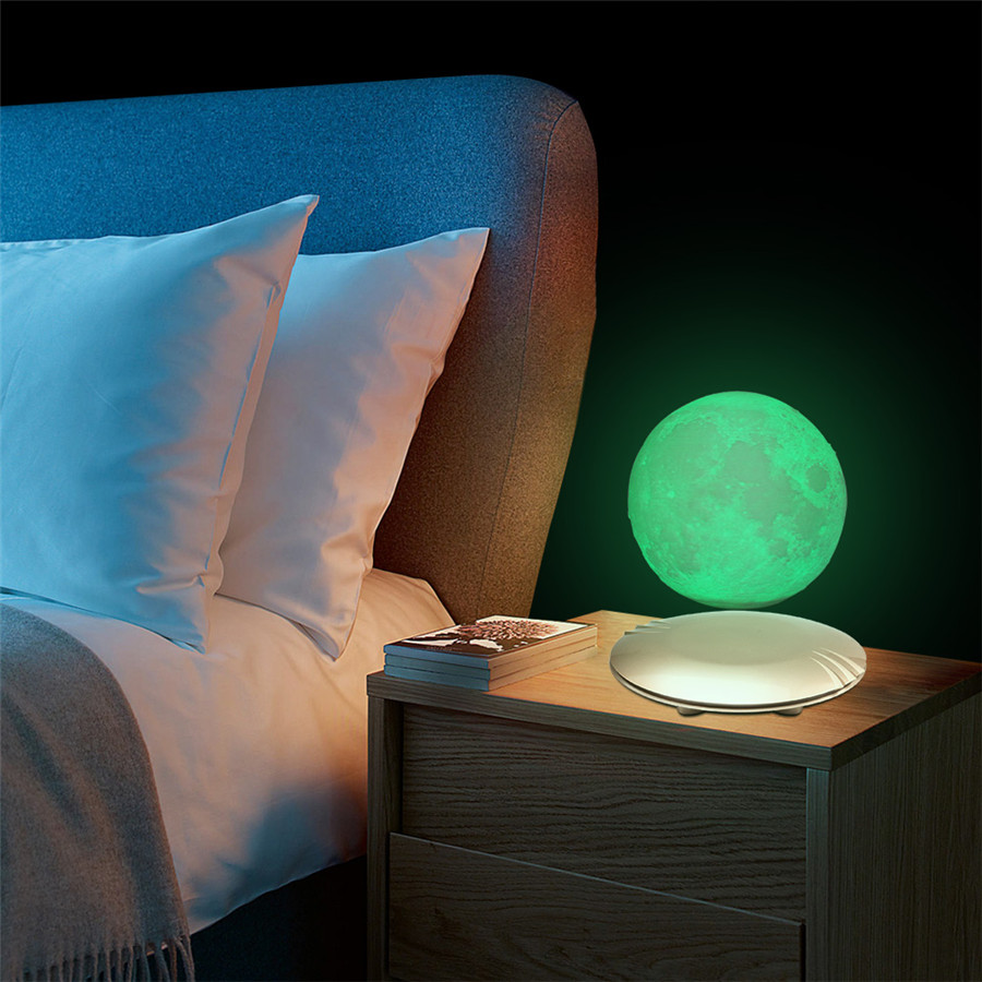 3D Print Moon Lamp Levitating 7 Colors Changing LED Night Light for Home Christmas Decoration Creative Gifts # - 2