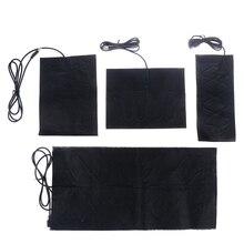 1/4 штуки 5В углеродного волокна Электрогрелка грелка для рук USB нагревательная пленка Электрический зимние инфракрасный жар коврик
