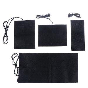 1/4PCS 5V Carbon Fiber Heating Pad Hand Warmer USB Heating Film Electric Winter Infrared Fever Heat Mat