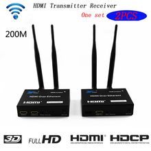 цена на 5GHz Wireless Transmission HDMI Extender Transmitter Receiver Video Converter 100M 200M Wireless Wifi HDMI Sender DVD PC to TV