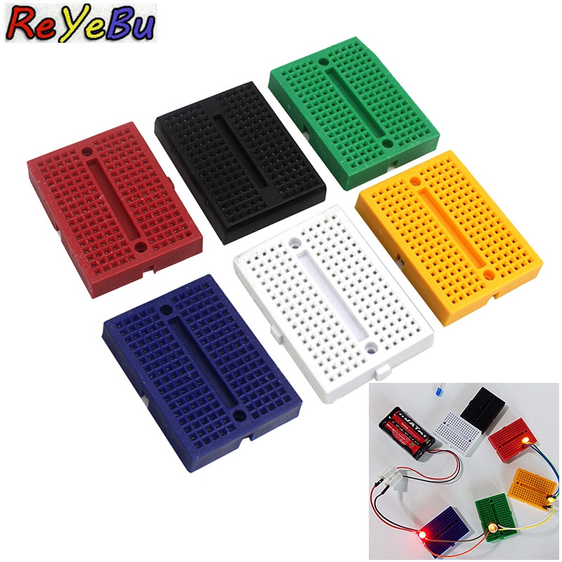 SYB-170 Mini Solderless Prototype 35*47*8.5mm Experiment Test Breadboard 170 Tie-points for arduino diy kit(China)