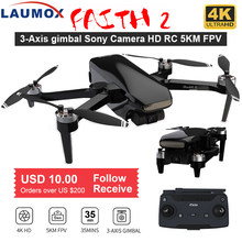 Laumox fé 2 zangão 4k gps hd câmera 3-axis cardan quadcopter profissional 35min vôo rc 5km sg906 pro 2 x8se f11 4k pro