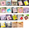 50/100pcs 10*10cm Love Cute Plastic Bags Self Adhesive Plastic Package Bag Wedding Birthday Party Favor Candy Gifts Wrapping Bag