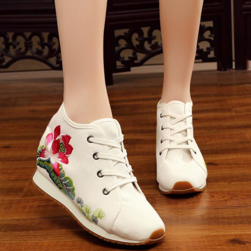 Female Shoes Runway Trendy Designer New-Fashion Hot Outdoor Lace-Up Footwear Round-Toe
