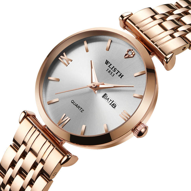 Wlisth Watch Man Women Watches Top Brand Luxury Quartz Wristwatch Rose Gold Clock Reloj Mujer Relogio Feminino Zegarek Damski