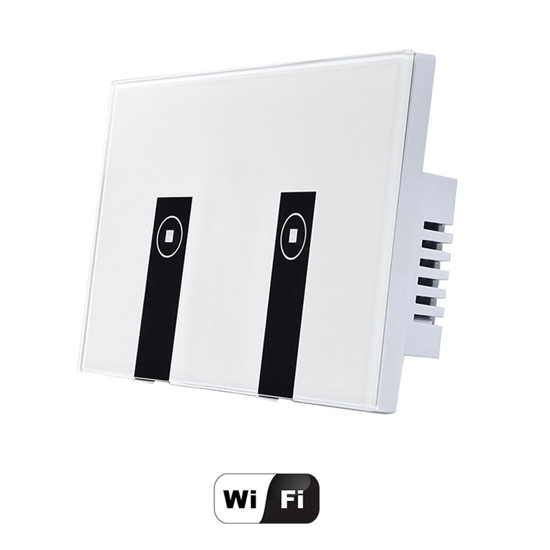 New WiFi Smart Light Switch, 2 Switches Touch Wall Plate Alexa Light Switch, In-Wall Wireless On/Off Wall Switch, Timing, Voice