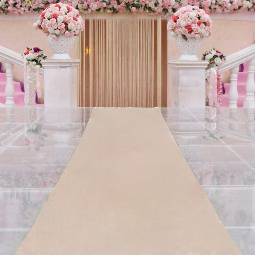 Aisle Runners Wedding Accessories Champagne Aisle Runner Carpet Rugs For Step Repeat Display, Ceremony Parties And Events Indoor