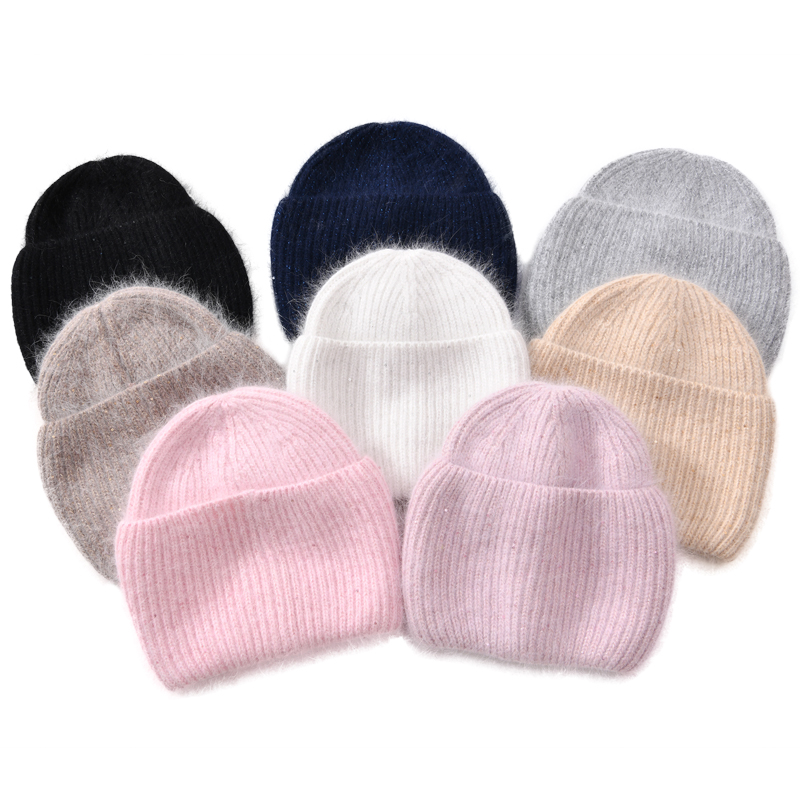 Women Winter Beanies Hat Warm Cashmere Knitted Fas