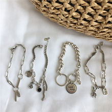Серебряный браслет Тай для женщин с буквами кролик медведь смайлик