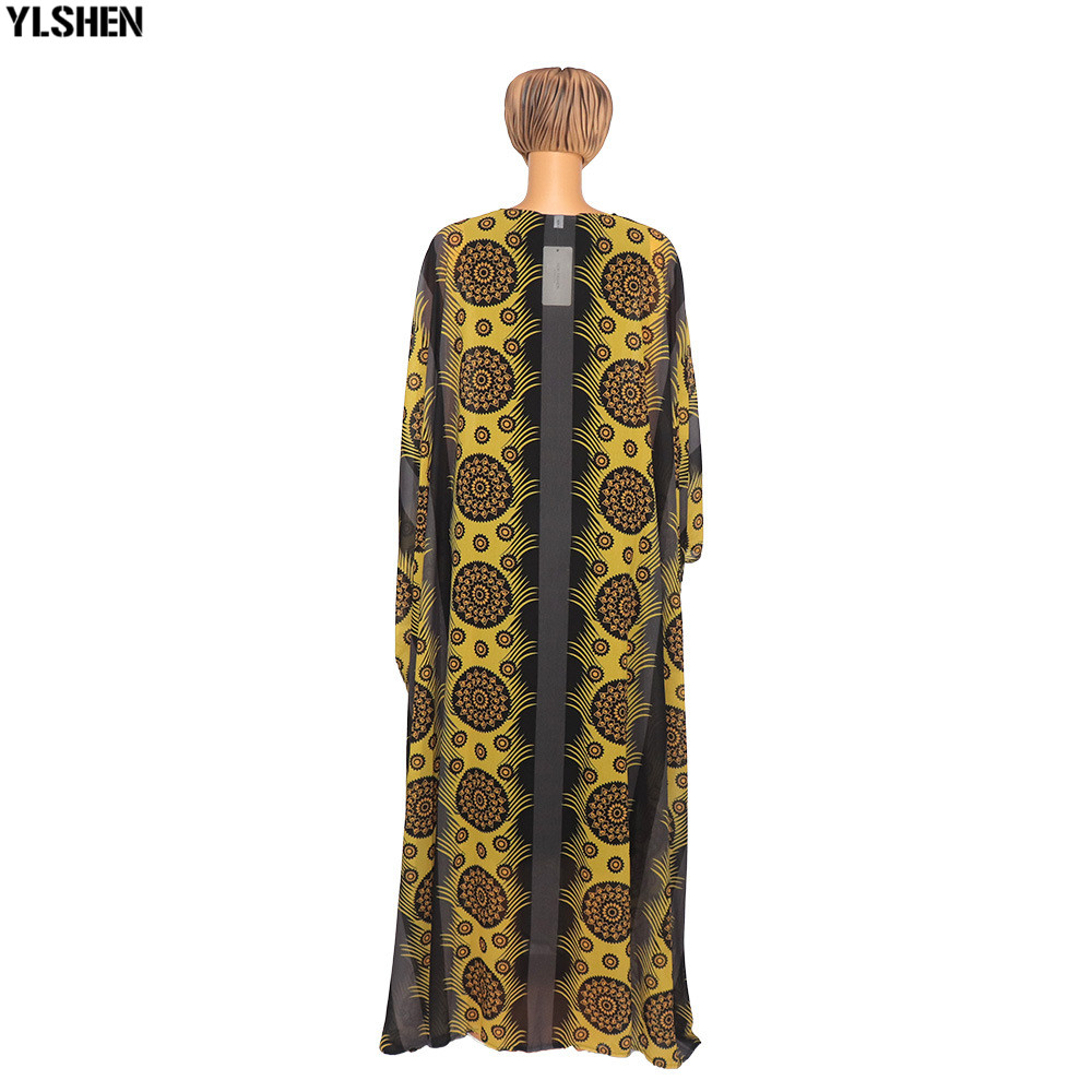 2 Piece Set African Print Dresses For Women Dashiki Long Maxi Dress Plus Size Clothing Traditional African Clothes Fairy Dress 04