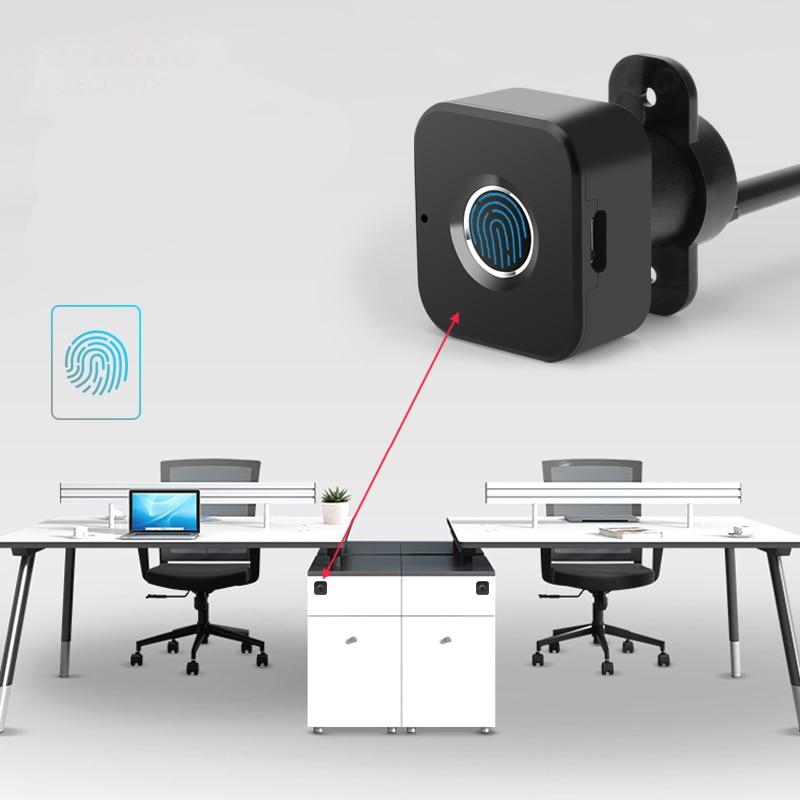 Smart Keyless Fingerprint Cabinet Lock Biometric Electric Lock For Office Drawer File Cabinet