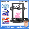 Creality 3D Ender 3 V2 3D Printer Kit All-Metal Integrated Structure Silent Mainboard New UI Display Screen Resume Printing