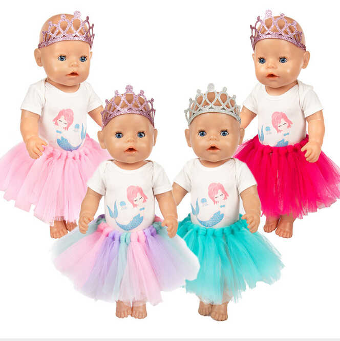 dolls clothes 43cm Baby Born doll size gift outfit girl set summer set