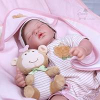 New Products High End Series Entirely Handmade Model Rebirth Infant Reborn Baby Silicone Doll Handmade Version