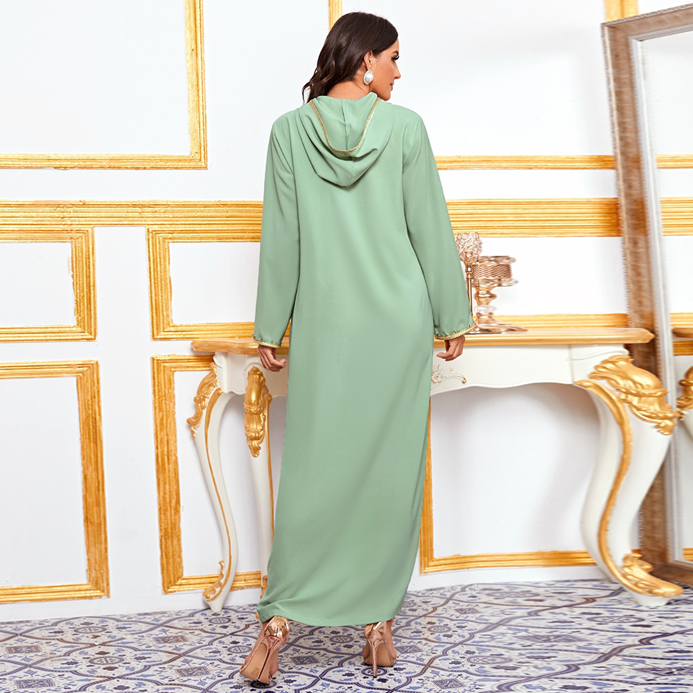 Abaya迪拜土耳其穆斯林時尚Hijab連衣裙美國伊斯蘭教服裝非洲女性連衣裙De Moda Musulman Djellaba Femme女裝Abaya女裝cb5feb1b7314637725a2e7:深綠色|淺綠色|紅色