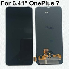 """6.41 """"מקורי Supor Amoled חדש עבור OnePlus 7 LCD מסך תצוגה + מגע Digitizer לוח עבור OnePlus 7 1 + 7 LCD תצוגת מגע"""