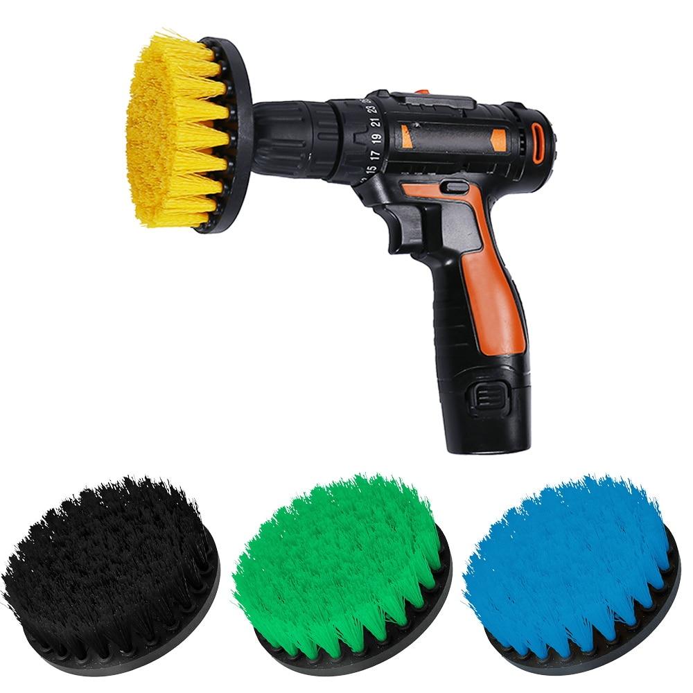 1pc Power Scrubber Brush 4'' Wheel Brush Car Washing Drill Brushes For Rims Wash Bathroom Tub Shower Floor Cleaning Tool