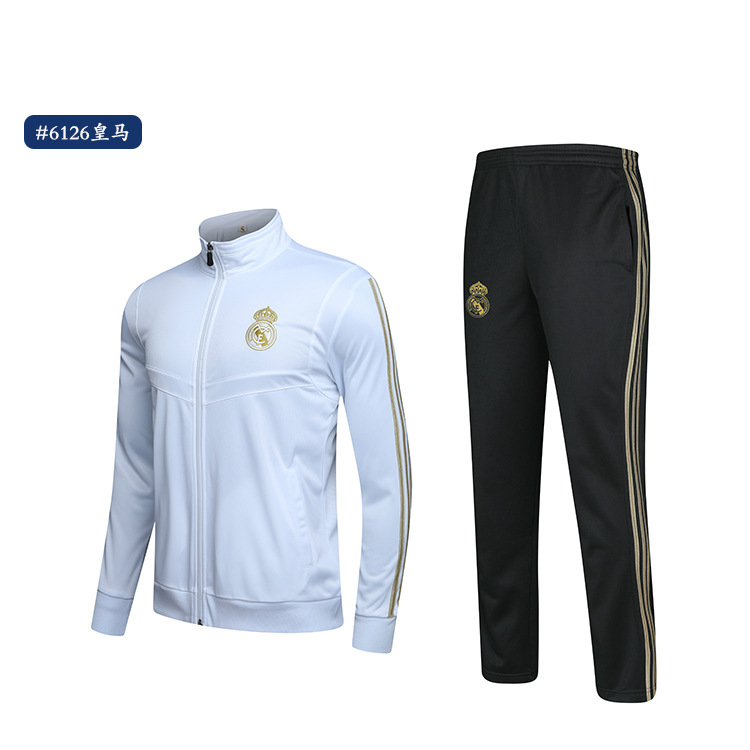 Customizable 19-20 Sports Jackets Autumn New Style Juve Barcelona Football Club Football Training Suit Stand Collar Sports Jacke