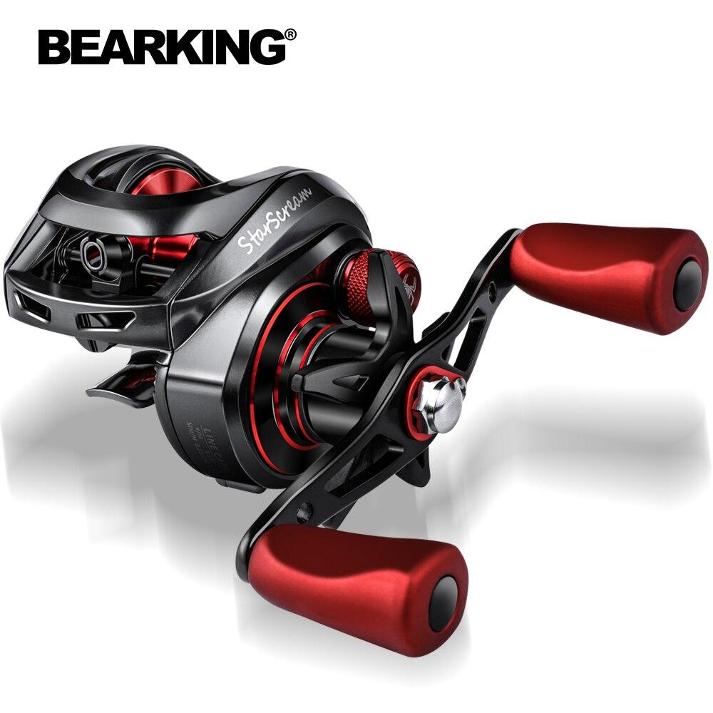 Bearking 8 + 1bb carretel de arremesso 8kg max arraste 7.3:1 carretel de pesca de alta velocidade reforçado carretel de arrasto carretel de arrasto carpa carretel de pesca