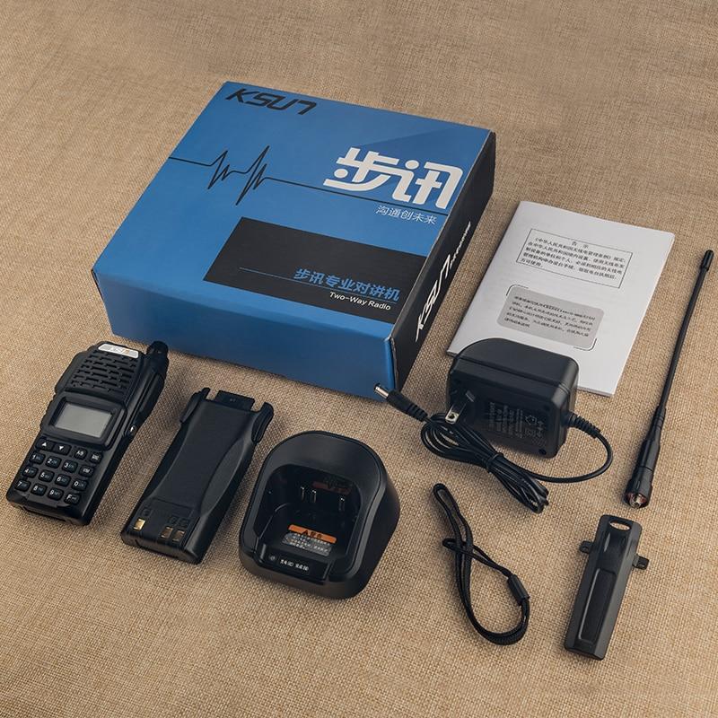 Купить с кэшбэком KSUN Walkie Talkie Dual Band Handheld Two Way Ham Radio Communicator HF Transceiver Amateur Handy Walkie-talkie