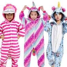 De franela niños conjunto Kigurumi pijamas Animal Onesies con diseño de Panda niños ropa de dormir niños niñas pijamas con capucha ropa de Navidad