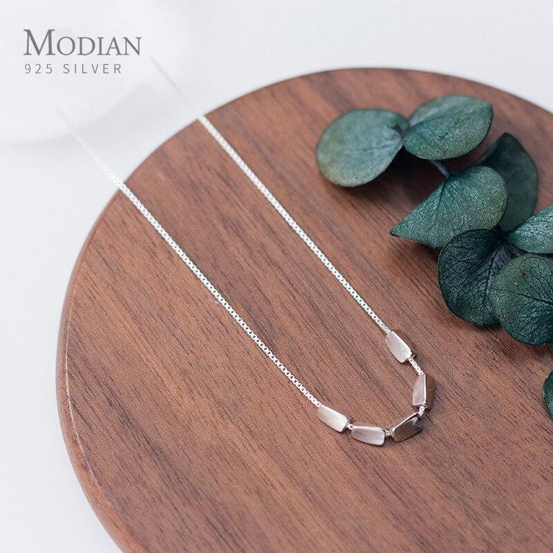 Modian, высокое качество, серебряные бобы, подвеска, ожерелье для женщин, регулируемое серебро 925 пробы, цепочка, ожерелье, хорошее ювелирное изделие|Ожерелья|   | АлиЭкспресс
