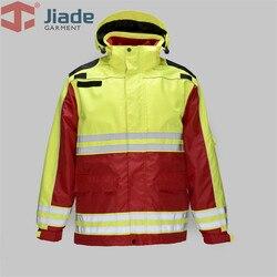 Jiade Mannen Werkkleding Winter Jas Reflecterende Winterjas EN471/Ansi Winter Jas Waterdicht Jas En Broek Gratis verzending