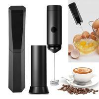 Mezclador de café eléctrico recargable, batidora de leche, vaporizador, baterías, batidor de huevos, batidora ajustable de mano de 13000RPM