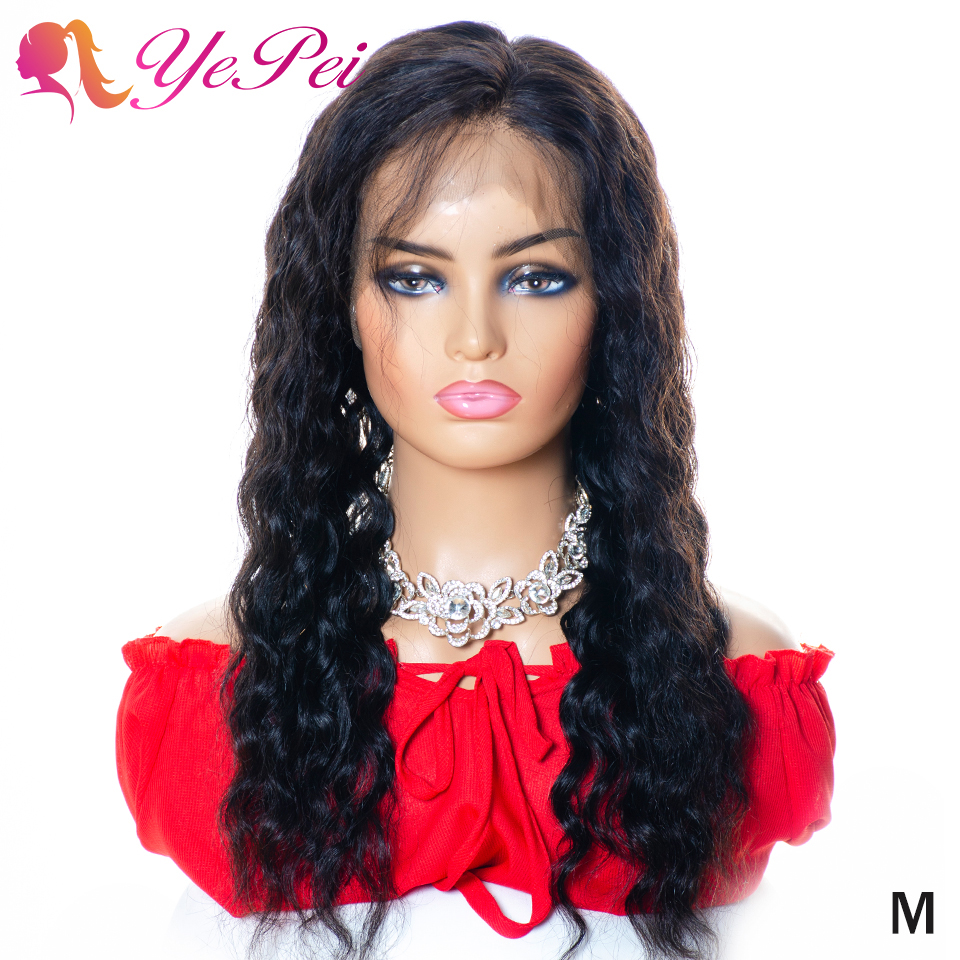 Water Wave Wig 360 Lace Frontal Wigs Pre Plucked With Baby Hair 150% Density Brazilian Remy Human Hair Wigs Yepei Hair