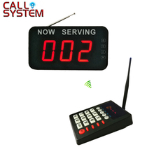 Queue Management System LED Display Receiver English Broadcast Fast Food Wireless Queuing Machine 2 3 alphanumeric display receiver host 433mhz with touch screen voice broadcast for restaurant ordering system queue management