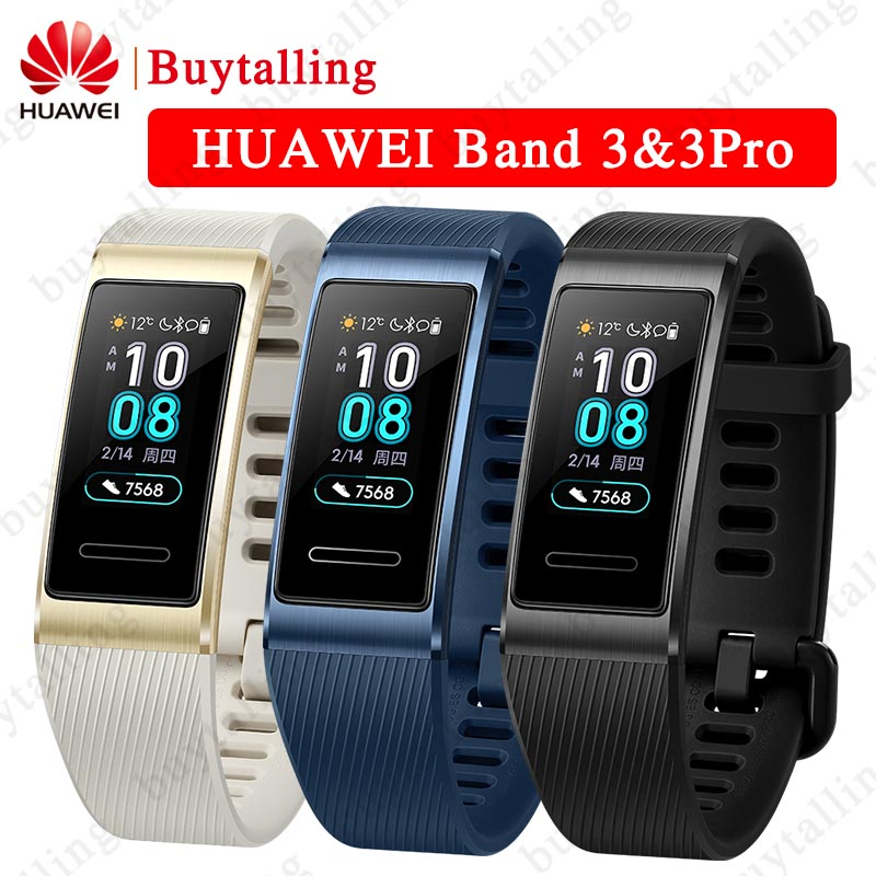 Huawei Band 3 Pro B29 Bracelet Fitness Tracker Smart Wristband 0 95inch Touchscreen Swim Heart Rate