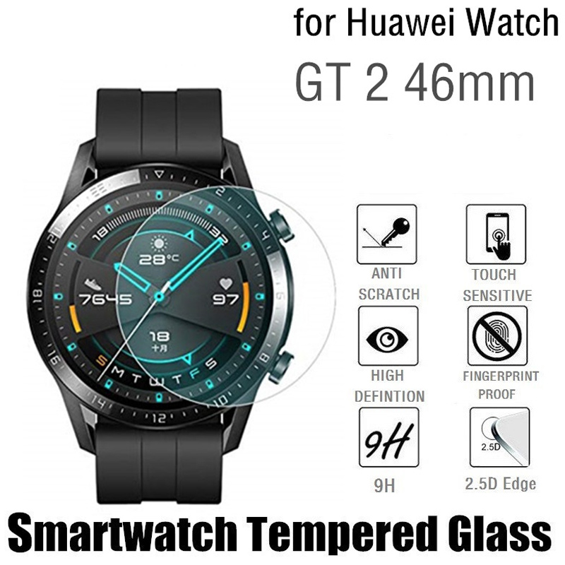 GT 2E Tempered Glass For Huawei Watch GT2 2 46mm 2.5D Smart Watch Screen Protector Explosion Proof Protective Films Accessories