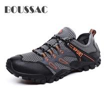 BOUSSAC 2019 Men's non-slip mesh hiking shoes outdoor Climbing Mountain Sport Sneakers trekking shoes men Trekking Tourism Boots цены онлайн