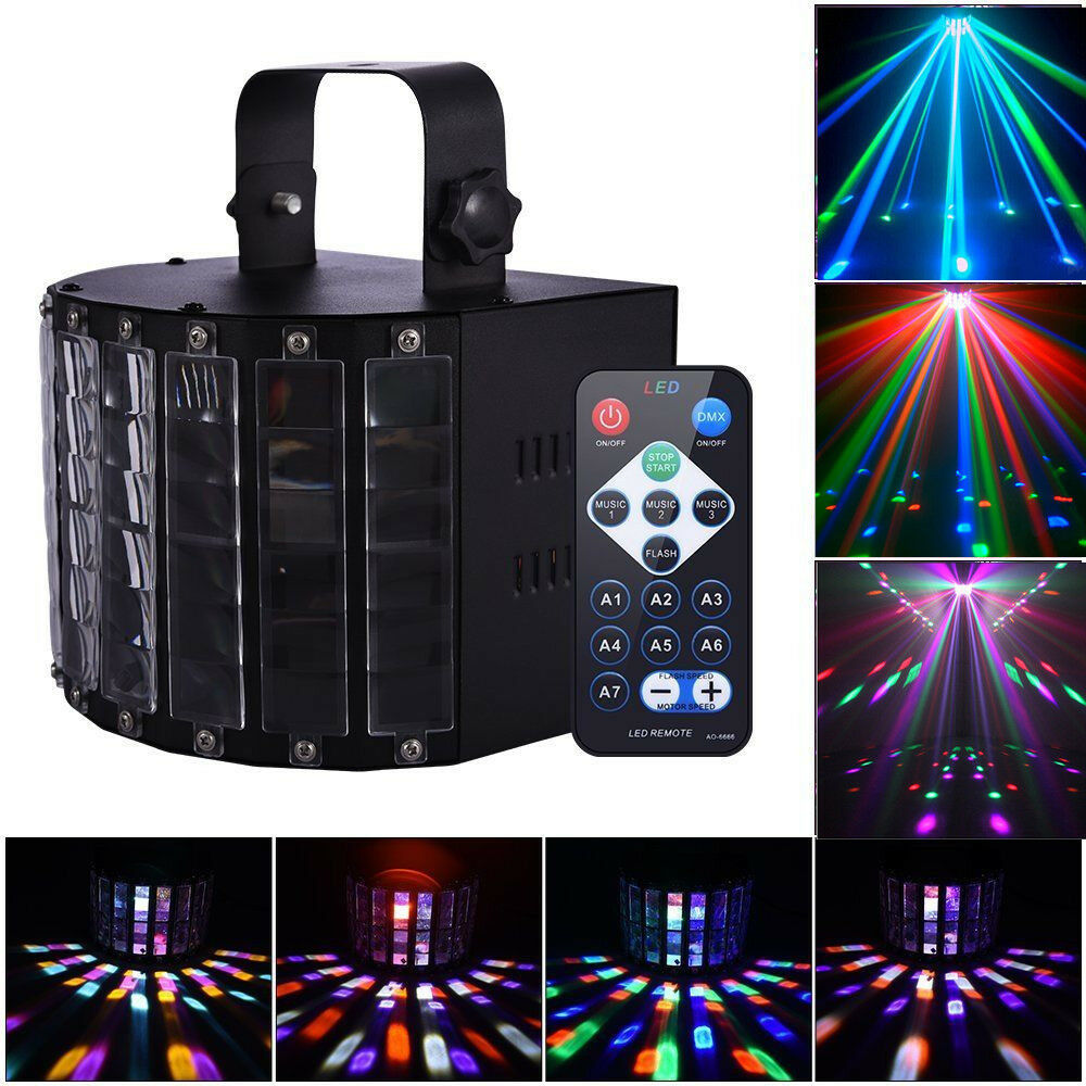2pcs Chauvet DJ Mini Kinta IRC DMX LED RGBW Derby Club Stage Effect Beam Light