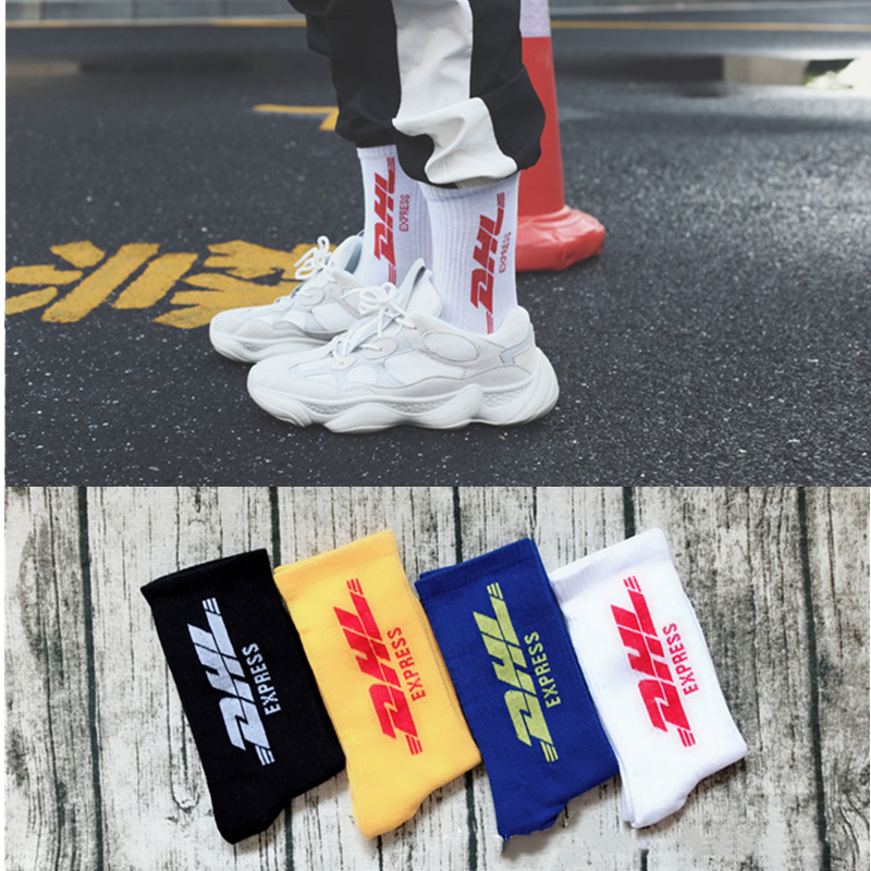 INS Hot Sports Socks Men/Women Stockings Fashion Tide Brand Cotton Socks College Style Letters DHL Hip Hop Skateboarding Socks