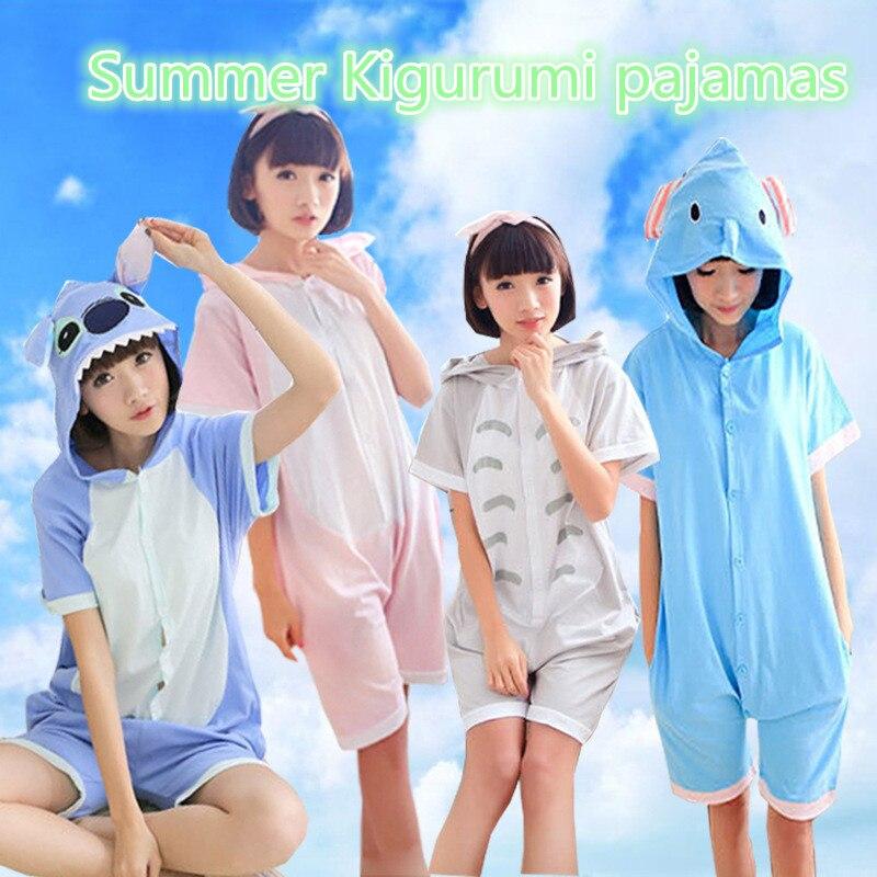 Verão kigurumi pijamas ponto tigre cosplay traje onesies catoon animal macacão adulto crianças funcy pijamas