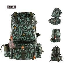 Kingdom bolsas de pesca impermeables de nailon, gran capacidad, desmontables, multifuncionales, 1610g, 43x24x53cm, modelo LYB 14