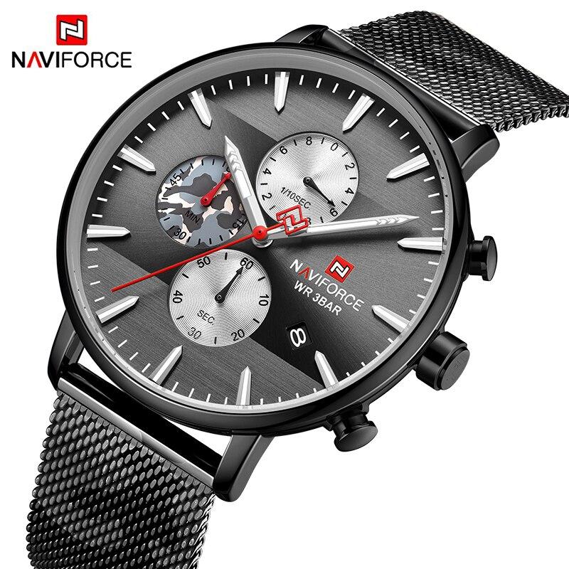 NAVIFORCE Top Watch Mens Brand Luxury Fashion Quartz Men Watches Waterproof Sport Camouflage Wrist Watch Clock Relogio Masculino