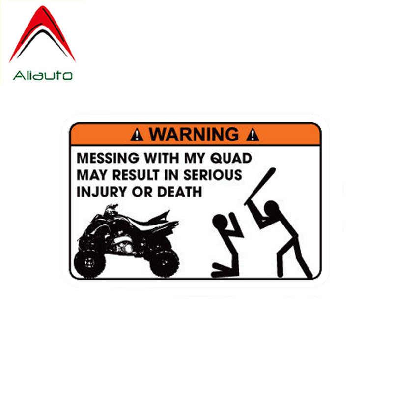 Aliauto Mobil Lucu Stiker Hilang dengan Quad Dapat Mengakibatkan Cedera Serius atau Kematian PVC Decal untuk Mercedes Honda VW, 12 Cm * 8 Cm
