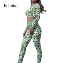 Party Long Sleeve Crop Top Long Pant camouflage Two Piece Set 2019 Autumn 2 Piece Set Women sweatsuit Bodycon Sexy Club Outfits 2019 two piece set women crop top sexy off shoulder slim bodycon nigthclub pencil dress women long sleeve 2 piece outfits