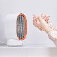 Casa mini desktop aquecedor de poupança energia pequeno ptc cerâmica aquecimento quarto sala estar aquecedor elétrico para o inverno
