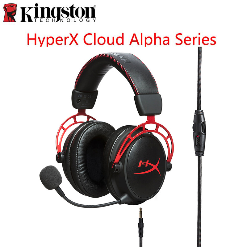 Original Kingston HyperX Cloud Alpha Limited Edition E-sports Gaming Headset With a microphone Headphones For PC PS4 Xbox Mobile image