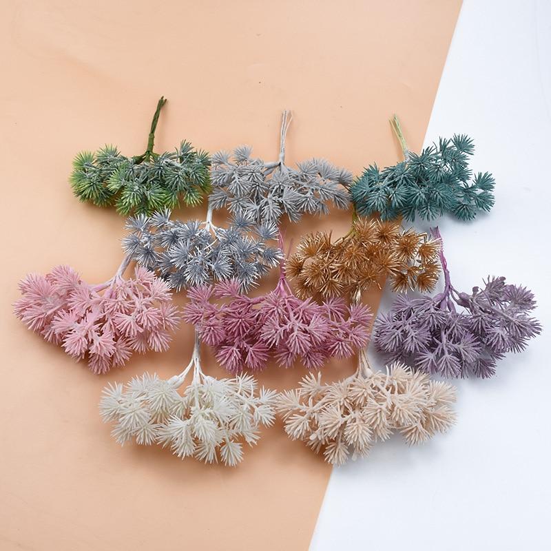 6PCS Plastic Gypsophila Artificial Plants Scrapbook Wedding Decorative Flowers Vases For Home Decor Diy Gifts Christmas Garland